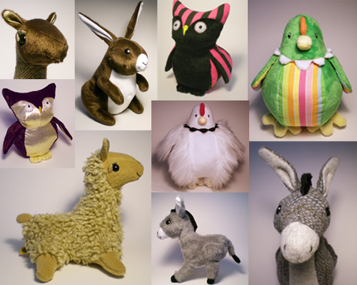 Plush Toy Collage