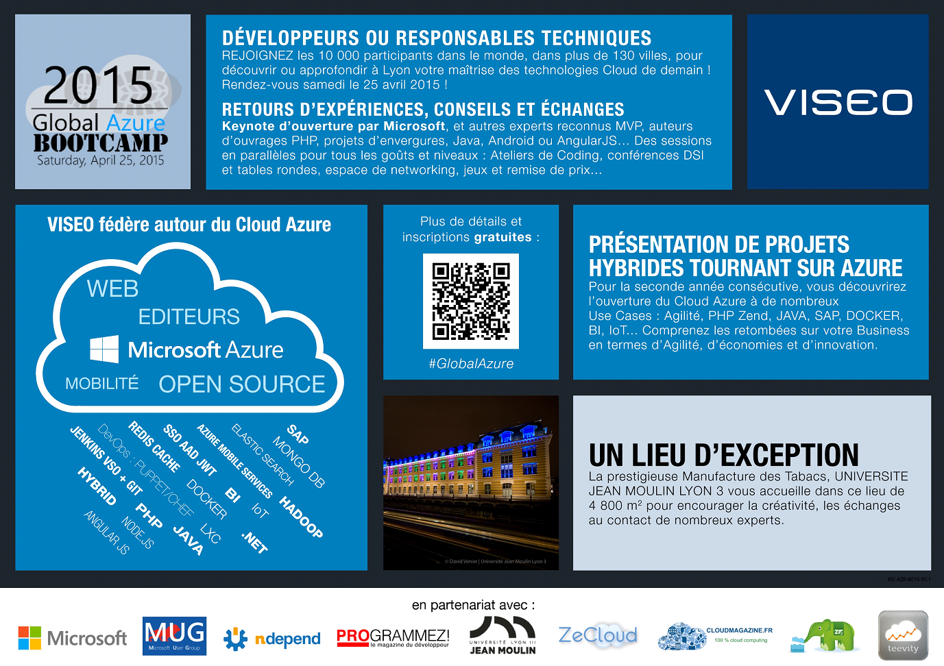 Global Azure Bootcamp organized and sponsored by VISEO