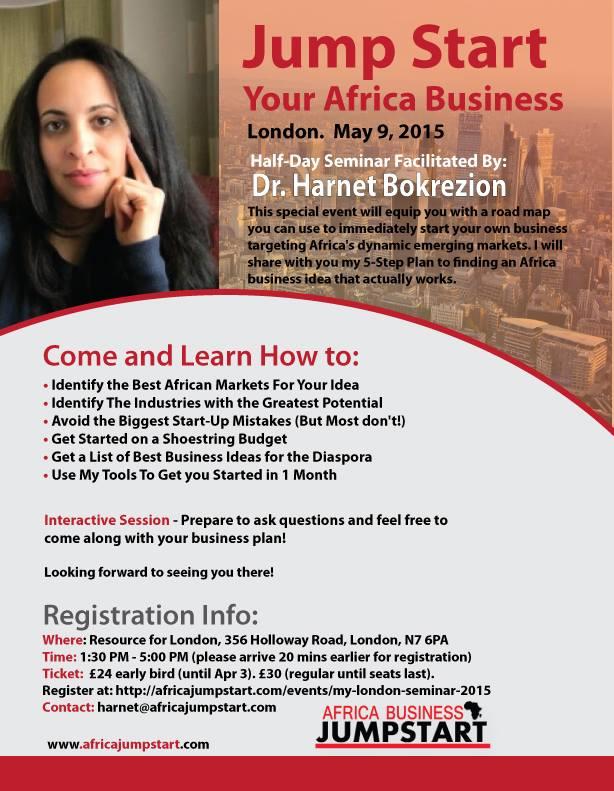 Afria Business Jumpstart Seminar - London, May 2015