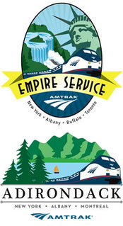 amtrak empire service and adirondack badges