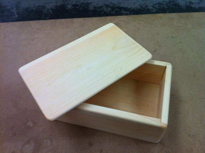 Pretty Wooden Box with Top
