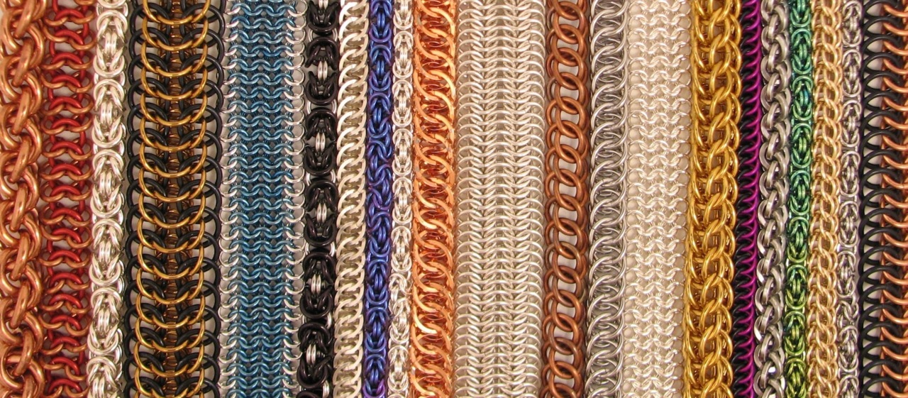 multi colored chainmaille