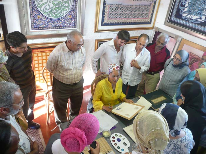 Islamic Manuscript Illumination Seminar at Soni Art Studios, Cape Town, South Africa