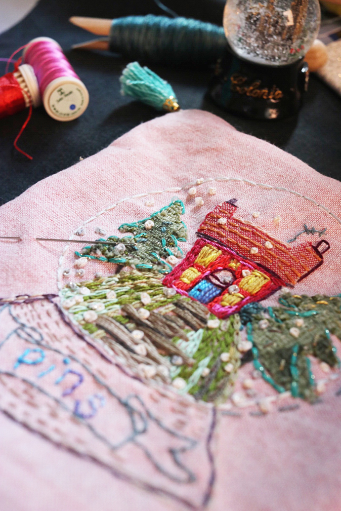 Marna Lunt embroidery workshop