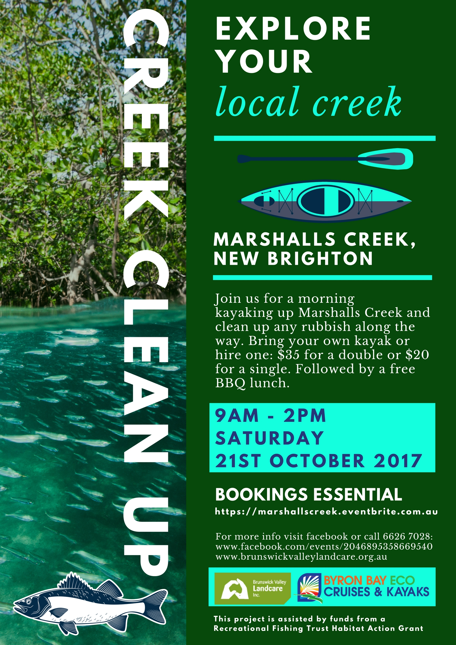 Explore your local creek - Marshalls Creek clean up
