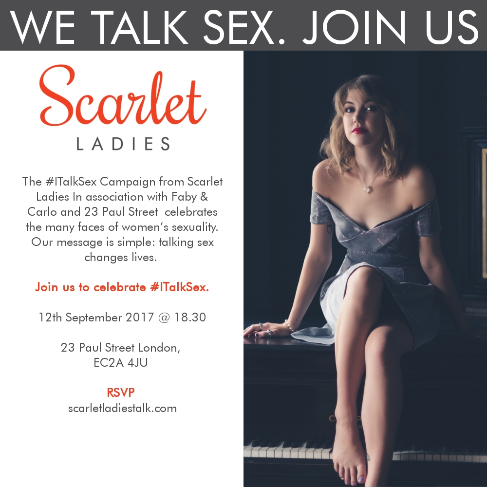 #ITalkSex Campaign Party Banner