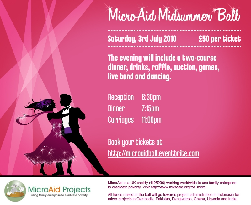 MicroAid Midsummer Ball Flyer 2010