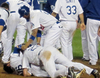 dodgers orgy on the ground