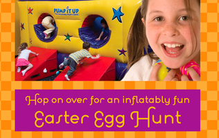 Hop on over for an inflatably fun Easter Egg Bounce!