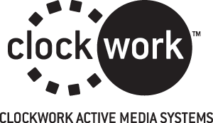 clockwork active media systems logo