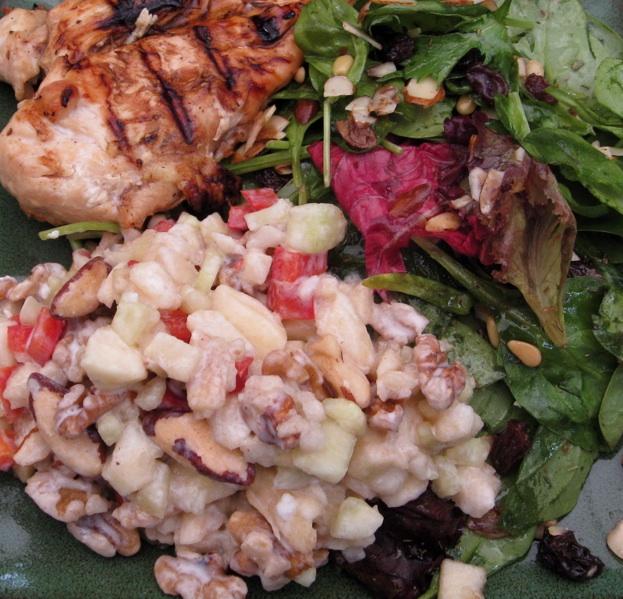 Paleo meal - chicken & paleo salad
