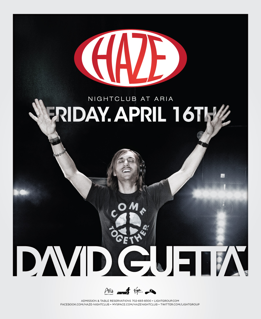 David Guetta at Haze, April 16th, 2010