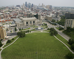 Kansas City view from Liberty Memorial