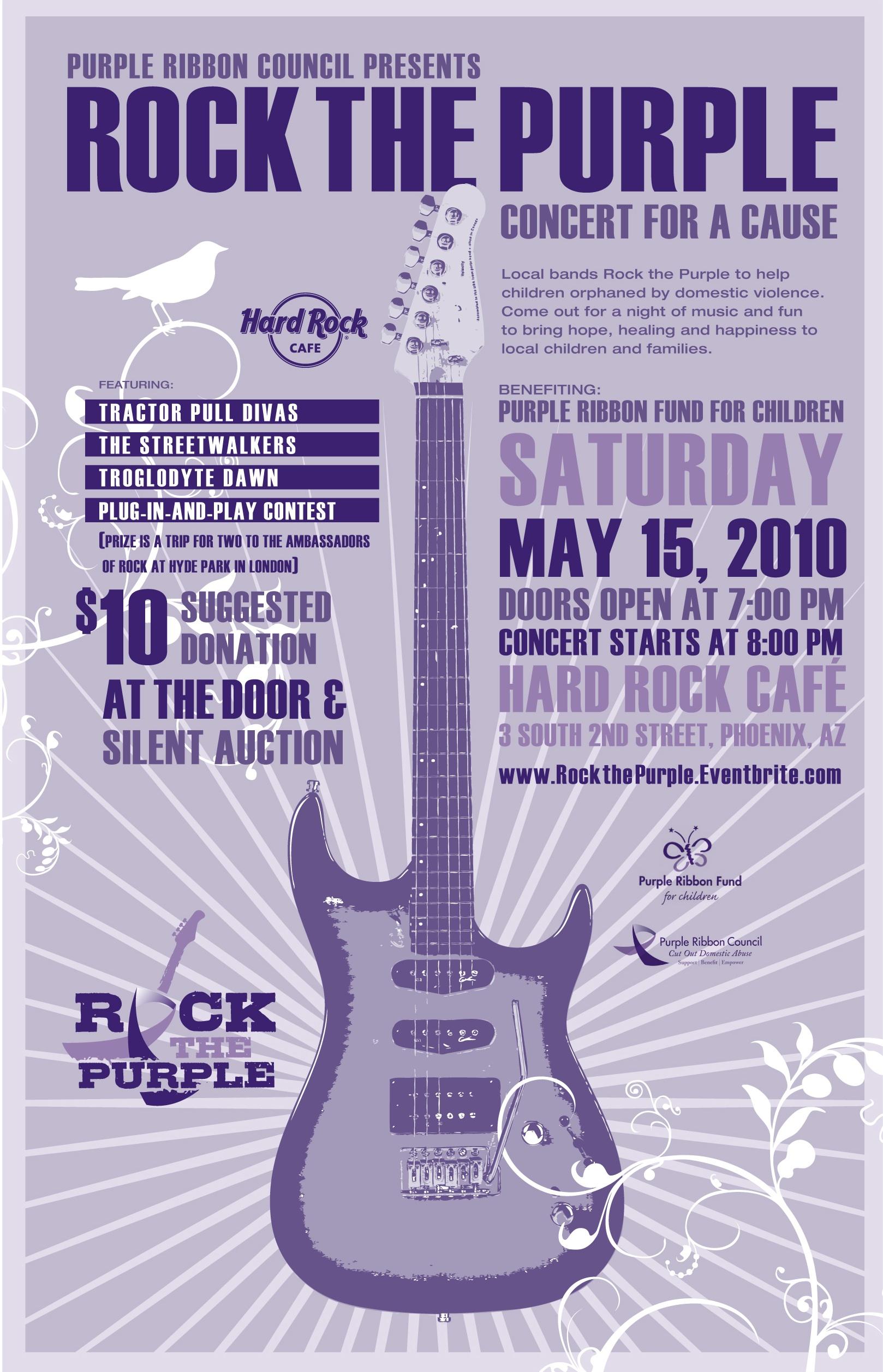 Rock the Purple May 15 Flier