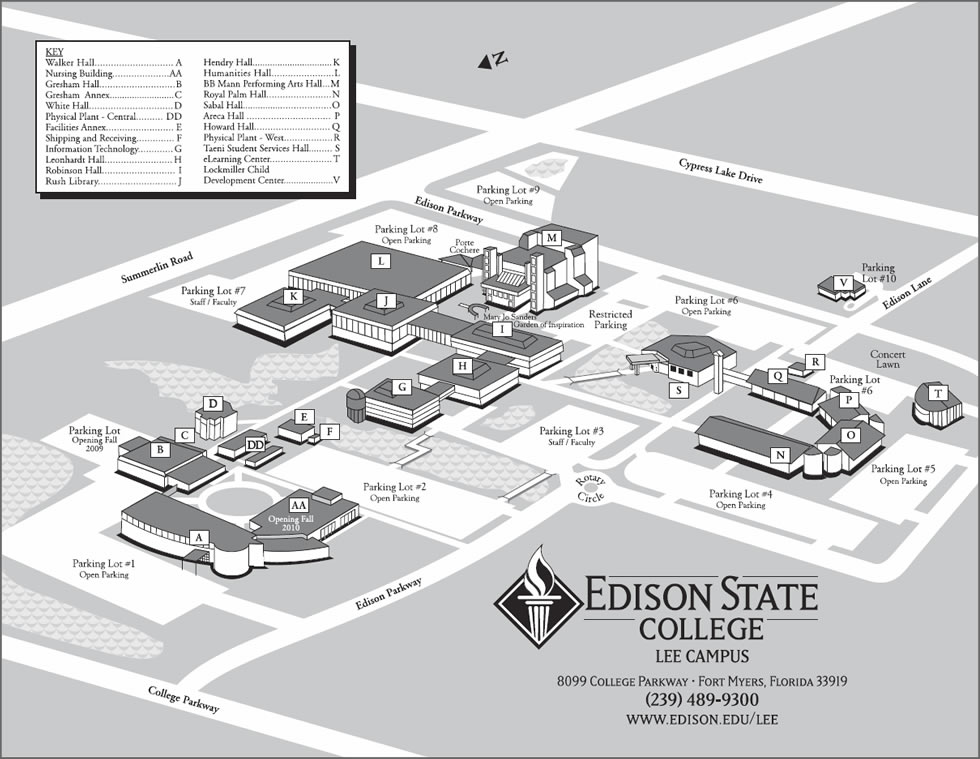 Edison State College Campus Map