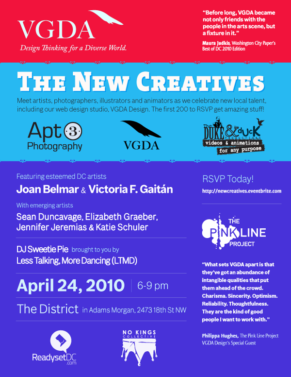 VGDA Design presents The New Creatives