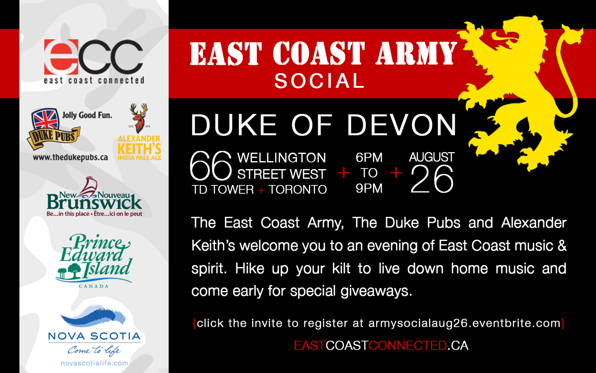 East Coast Army Social August 26