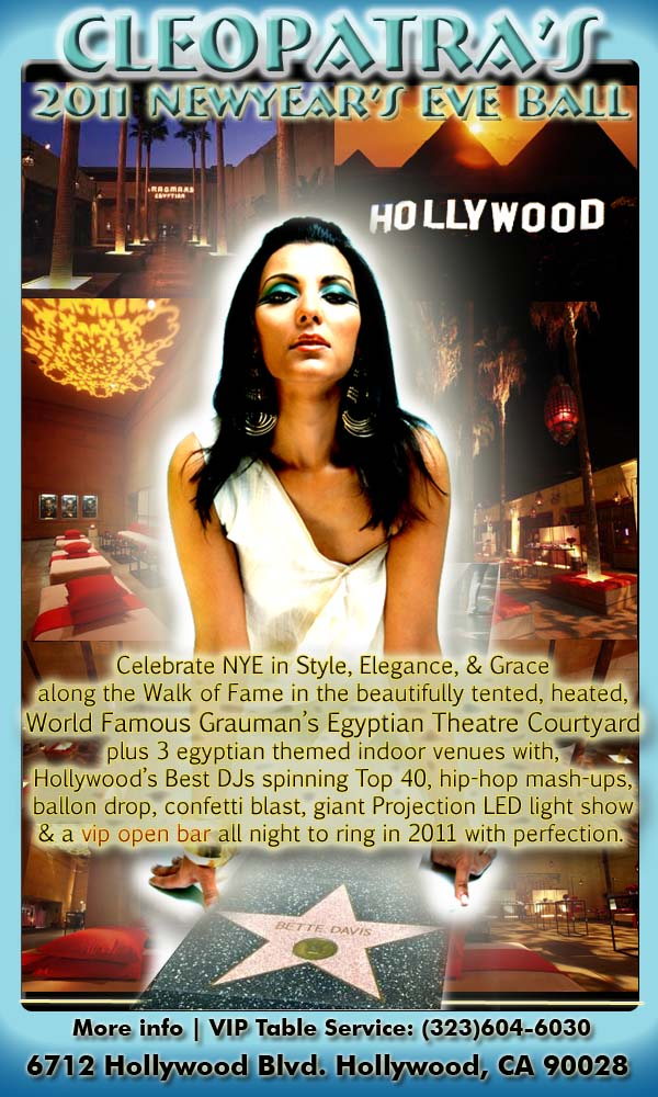 Cleopatra's 2011 New Year's Eve Ball
