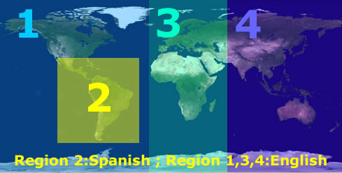 Novatempo's World Regions for Global Events