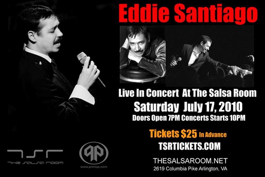 Eddie Santiago Live at the Salsa Room