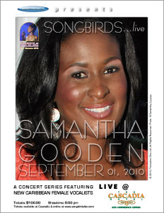 SONGBIRDS...live poster Samantha Gooden