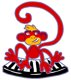 monkey on piano logo