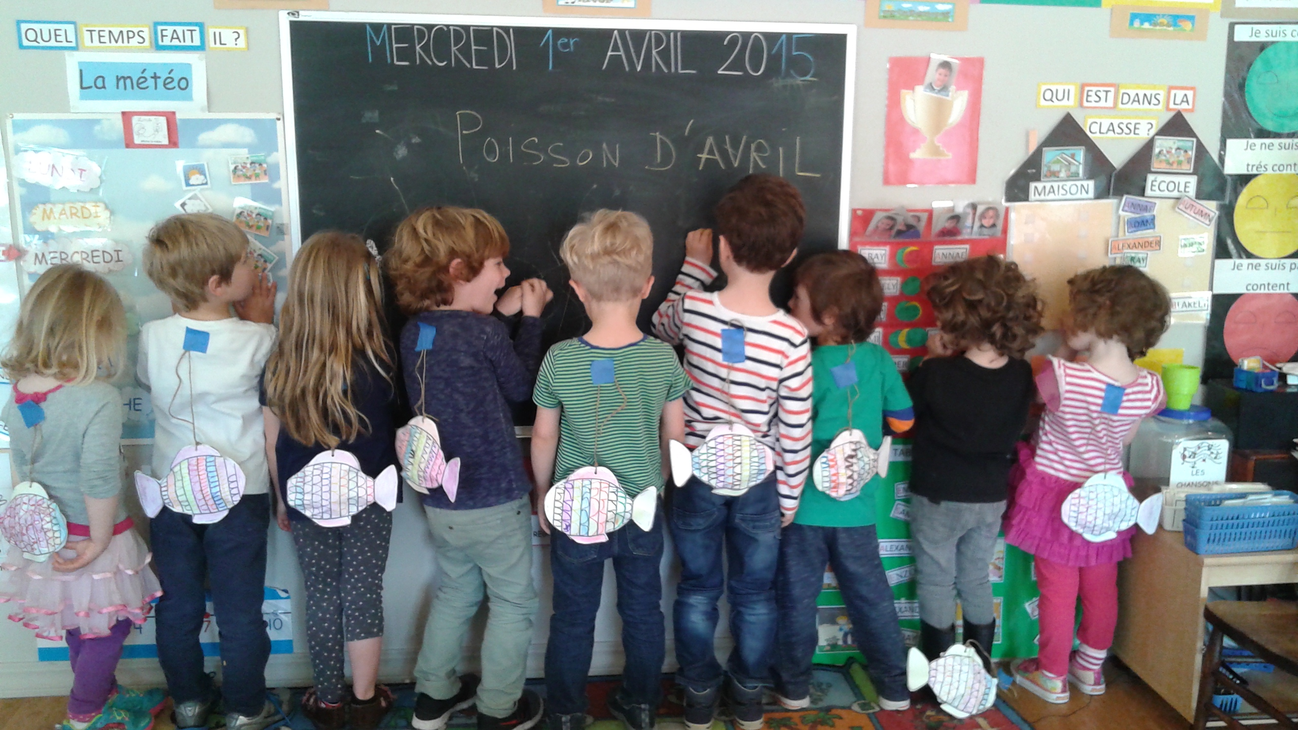 Students at French Mornings Preschool