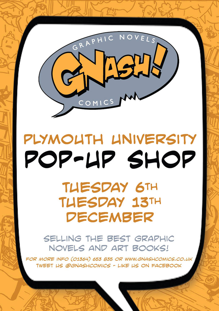 plymouth university pop up shop comic shop graphic novel