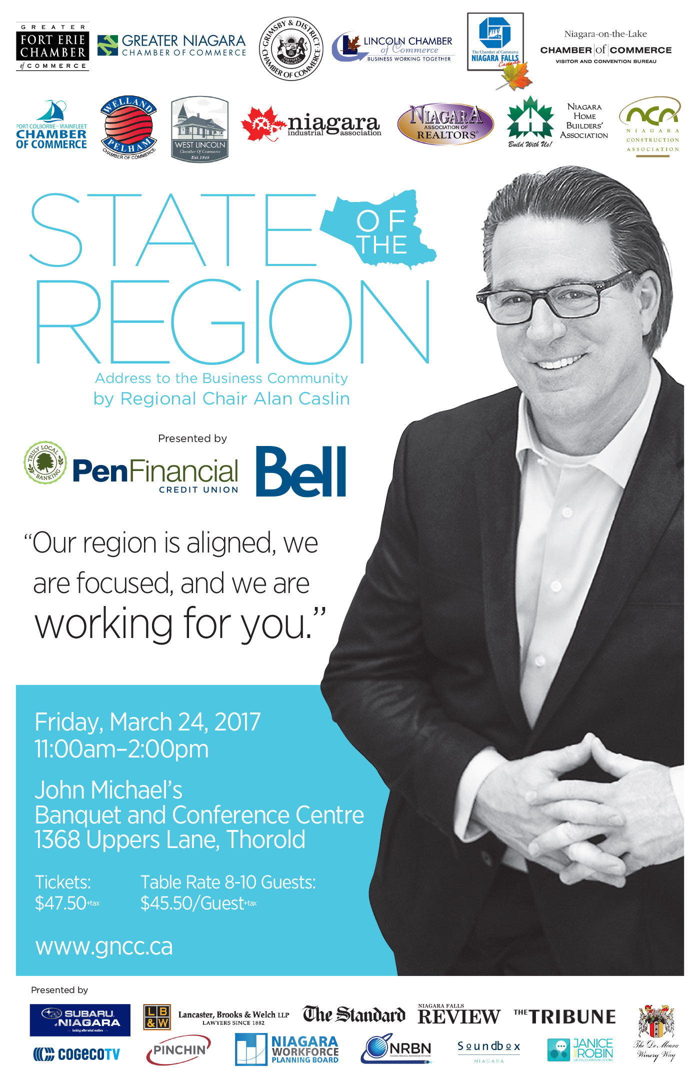 Address to the Business Community by Regional Chair Alan Caslin