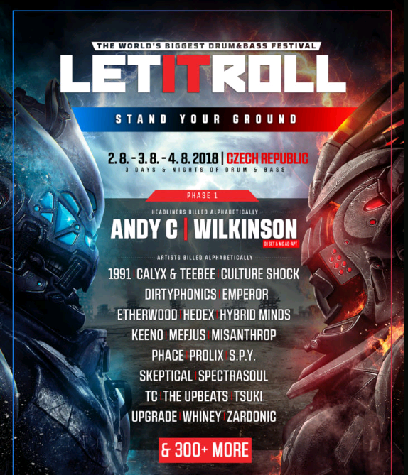 Let It Roll 2018 Line-Up