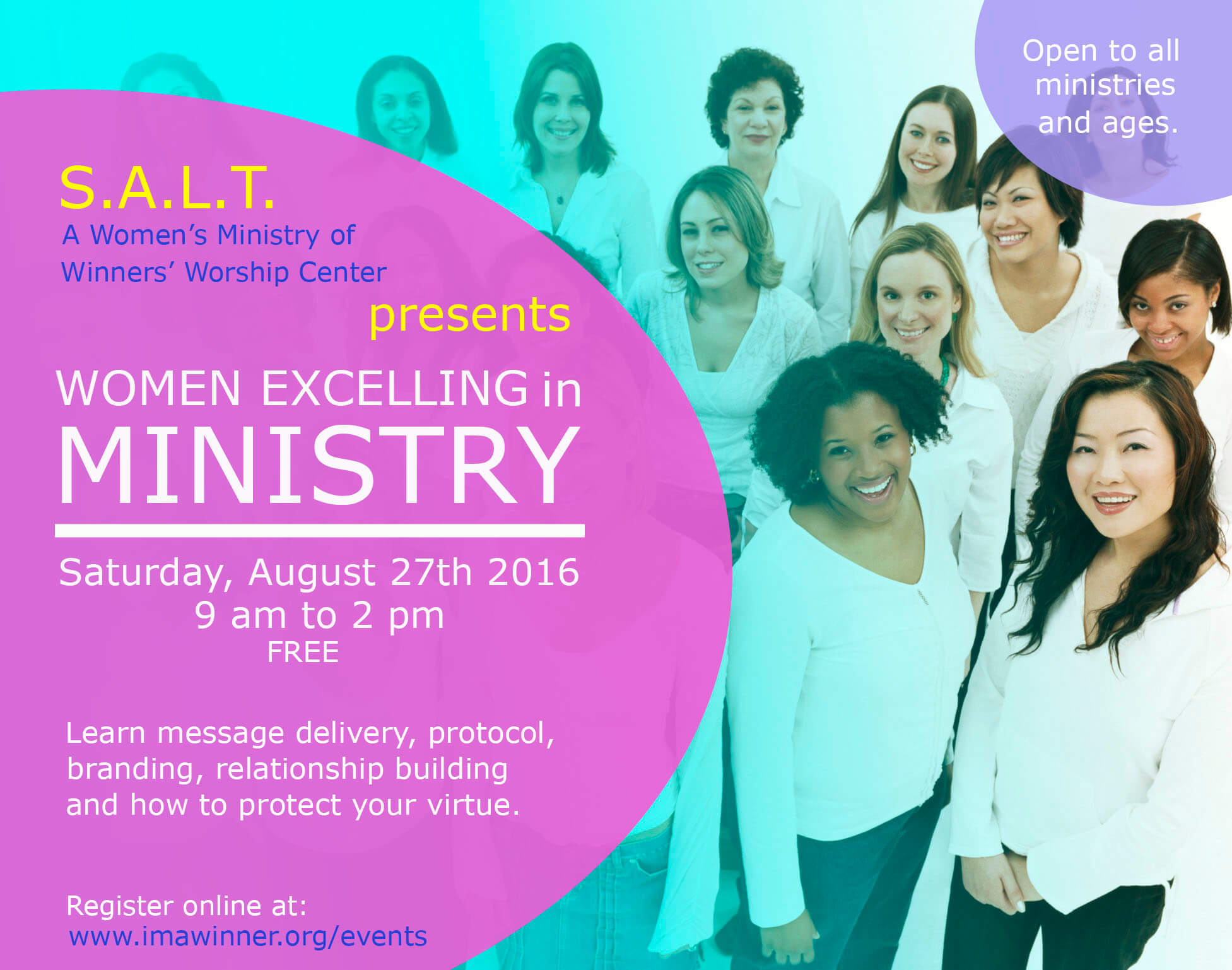 women excelling in ministry tickets sat aug at am women excelling in ministry winners worship center tampa fl