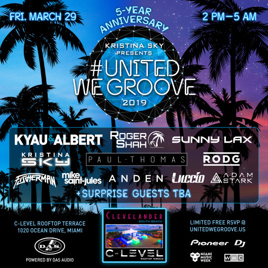 United We Groove Miami 2019_Phase 2 Lineup