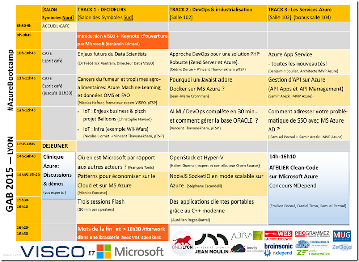Global Azure Bootcamp Lyon 2015 - By VISEO organized by Vincent Thavonekham