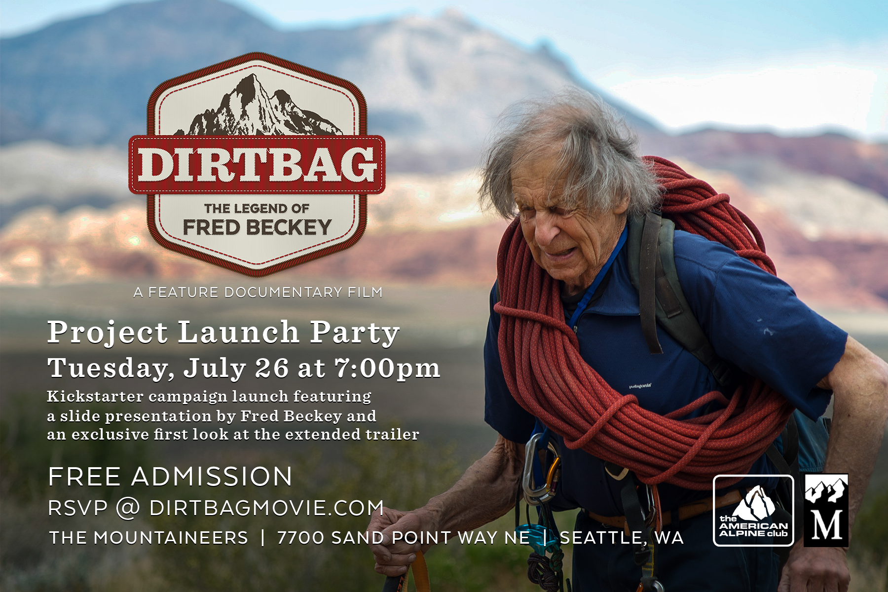 Event Flyer - DIRTBAG Project Launch