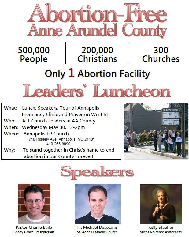 Abortion Free Anne Arundel Leaders' Luncheon