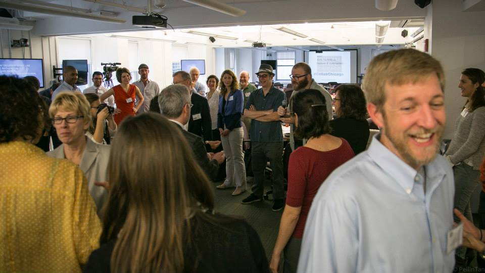 Improv exercise at the last Collab/Space Chicago in 2014