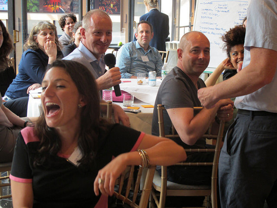 Improv exercises lead to fun and serious learning at Collab/Space NYC