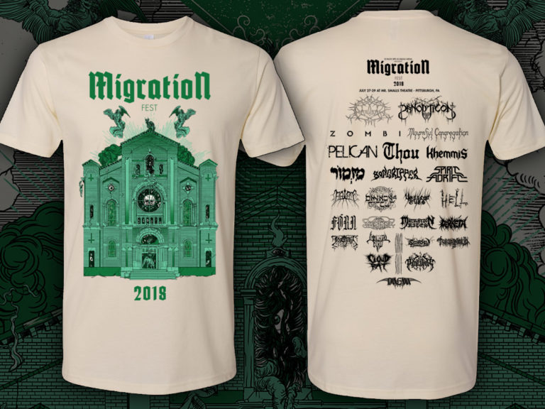 """Official festival design by Cold Poison, """"natural"""" color shirt. These will be limited."""