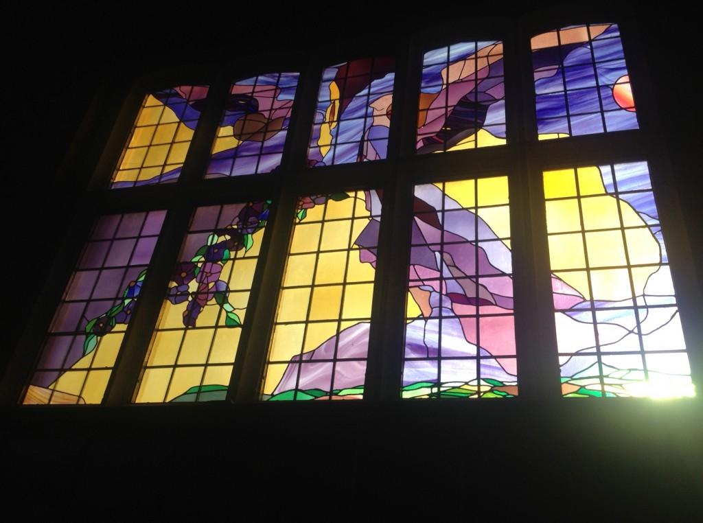 Stained Glass Window Barn Church Kew
