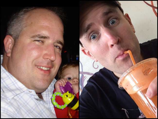 Natural Juice Junkie, Neil Martin Before and After picture