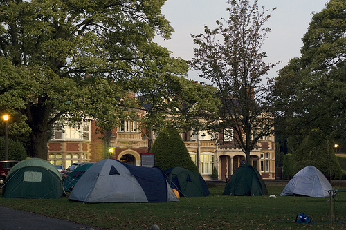 Bletchley Park Mansion with tents