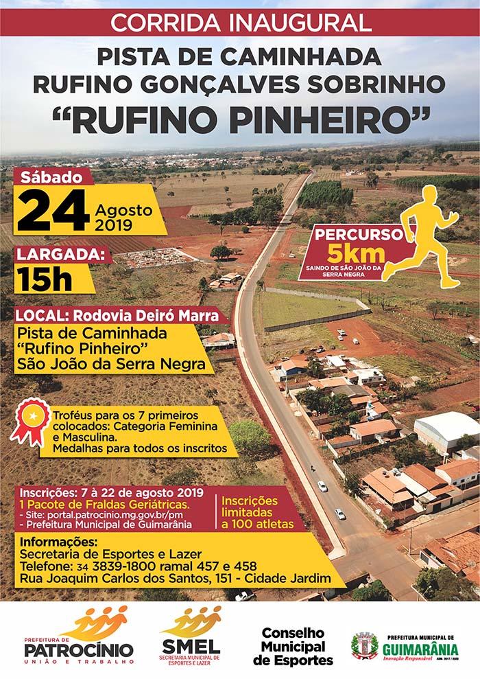 Corrida Inaugural Pista de Caminhada Rufino Gonçalves Sobrinho