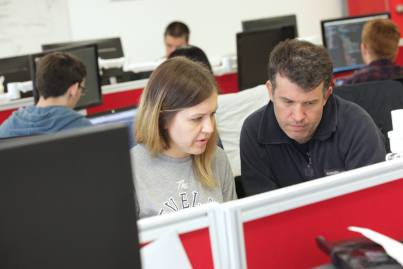 Northcoders Tutor working with a student