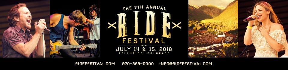 7th Annual Ride Festival - Telluride, CO July 14-15, 2018