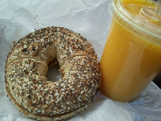 Bagel and Juice