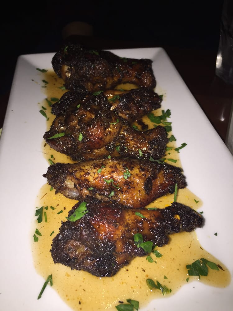 Brooklyn Wine Yard - Brooklyn, NY, United States. Jerk wings