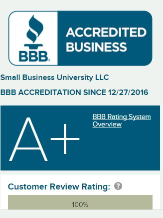 Better Business Bureau Rating A+