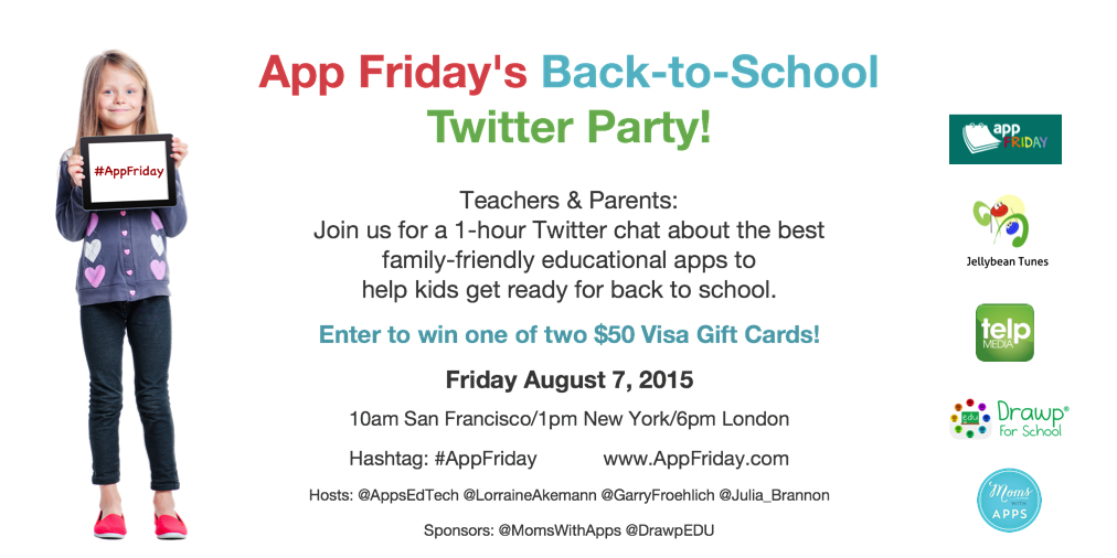 Back to School Twitter Party to Discover Educational Apps