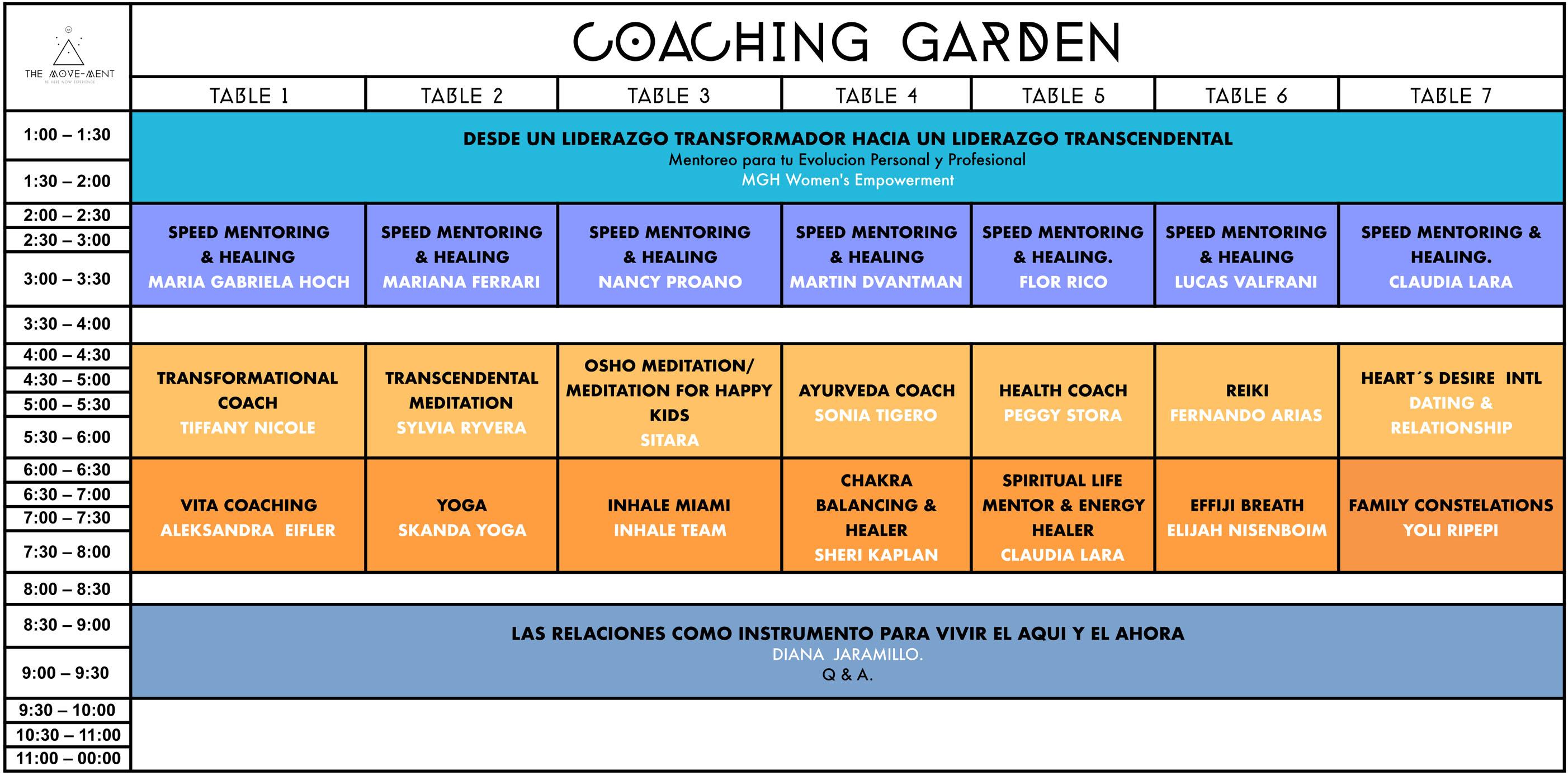 Coaching garden the move-ment