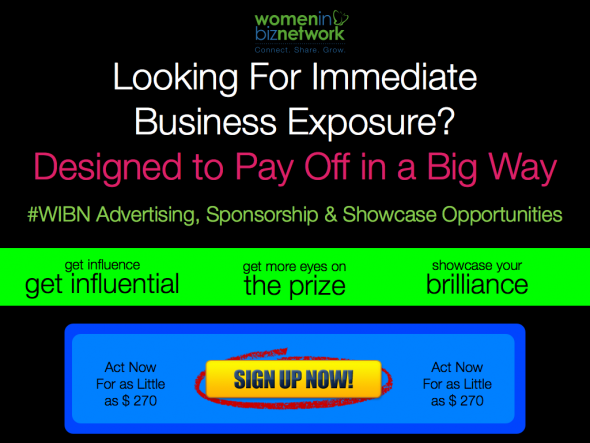 Women in bIz Network advertising, sponsorship and showcase opportunities